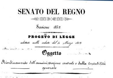 Legge 23 marzo 1853 – Riordinamento dell'amministrazione centrale dello Stato e della contabilità generale